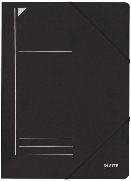Leitz 3980 Eckspanner, schwarz, A4, Füllhöhe 250 Blatt, Pentarec-Karton