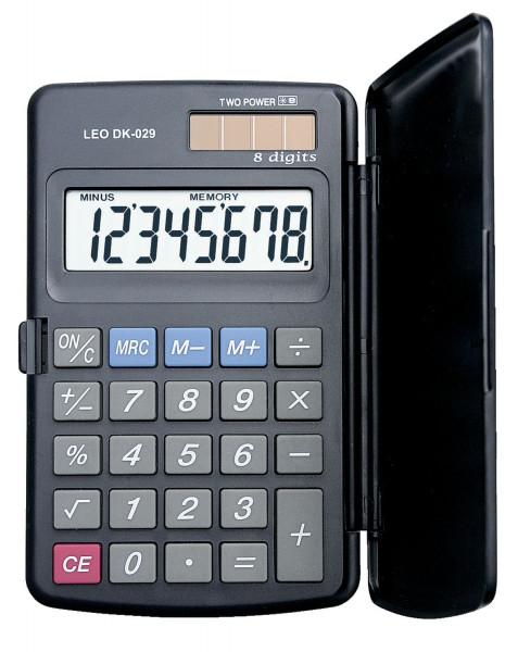 LEO® Solar-Taschenrechner DK-029, grau, 8-stellig