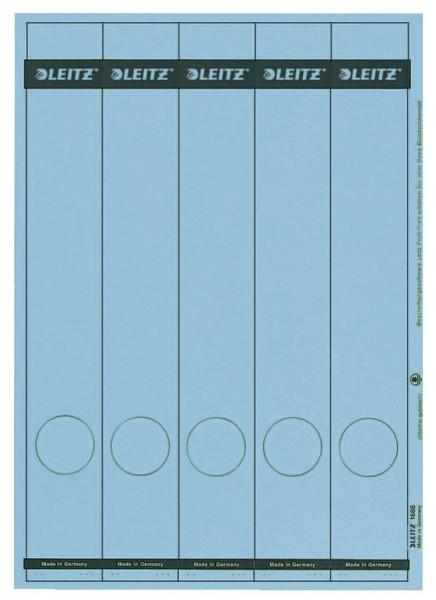 1688 PC-beschriftbare Rückenschilder - Papier, lang/schmal, 125 Stück, blau