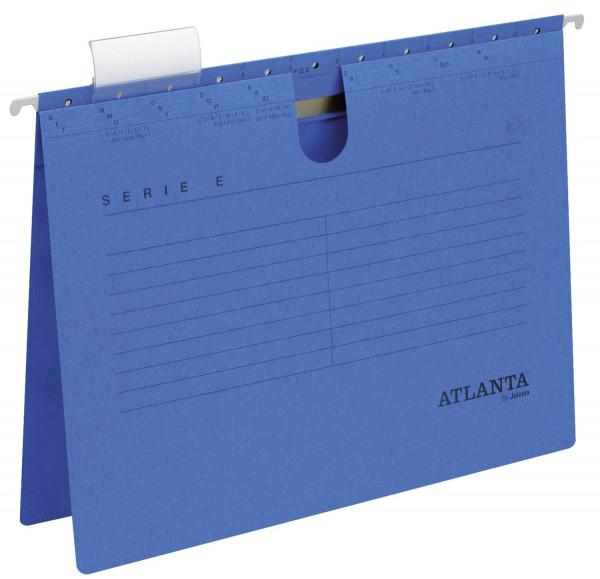 Atlanta Hängehefter blau Serie E, A4 kfm. Heftung, Kraftkarton 230 g/qm