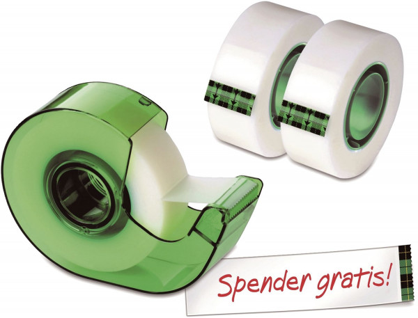 Scotch® Klebeband Magic 810 Promotion,19mmx25m, 3 Rollen Klebefilm + Handabroller gratis