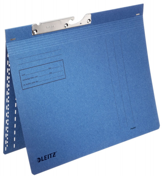 Leitz 2014 Pendelhefter Combi - kfm. Heftung, Manilakarton, blau