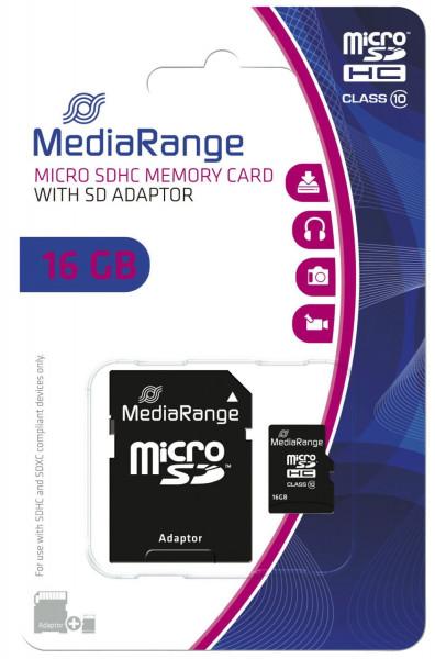Micro SDHC Speicherkarte 16GB Klasse 10 mit SD-Karten Adapter