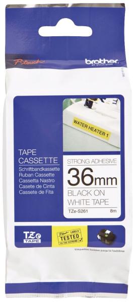 Brother® TZe 261 Schriftbandkassette - laminiert, 36 mm x 8 m, schwarz auf weiß