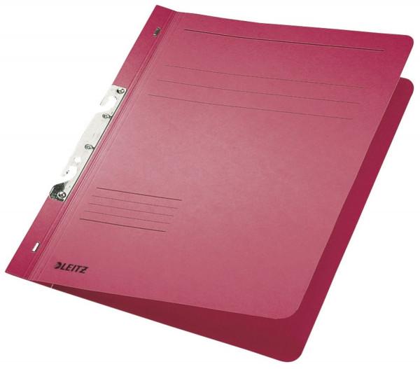 Leitz 3746 Schlitzhefter, rot ganzer Vorderdeckel, A4, kfm. Heftung, Manilakarton 250 g/qm