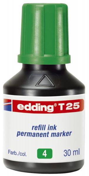 Edding T 25 grün Nachfülltusche für Permanentmarker, 30 ml,
