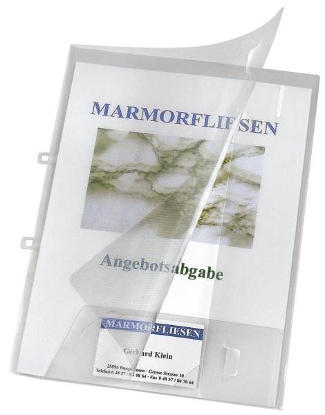 Angebotsmappe Crystal mit Visitenkartenfach, transparent