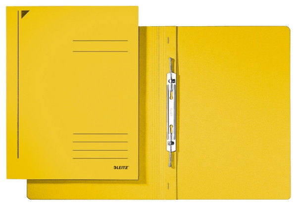 3040 Spiralhefter, A4, kfm. Heftung, Colorspankarton, gelb