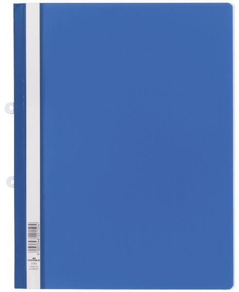 Durable 2580 Sichthefter blau mit Abheftschieber, A4, Hartfolie