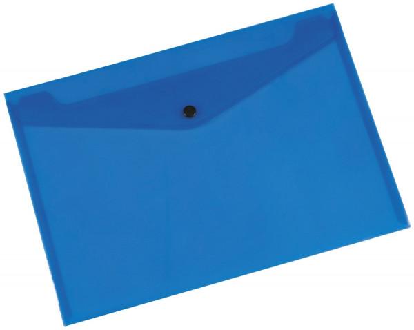 Q-Connect Dokumentenmappe transluzent blau, A4 bis zu 50 Blatt