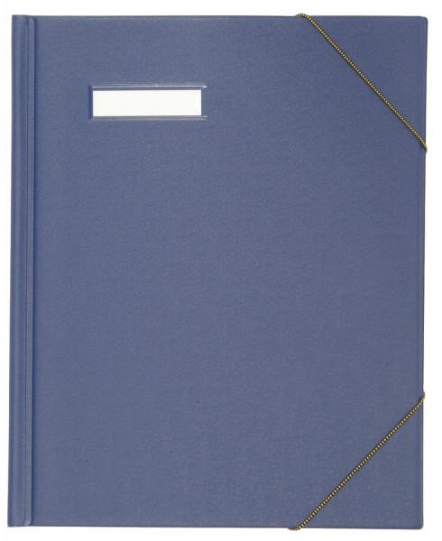 Elba Umlaufmappe colors,blau Karton, mit PVC-Folie veredelt, A4,