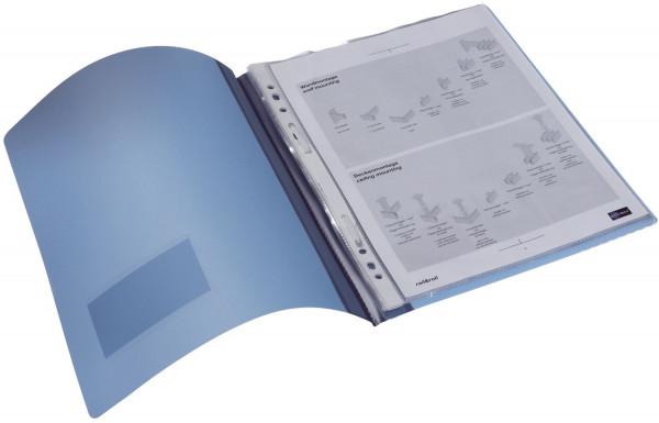 Schnellhefter DURALUX® - transluzente Folie, für A4 überbreit, blau