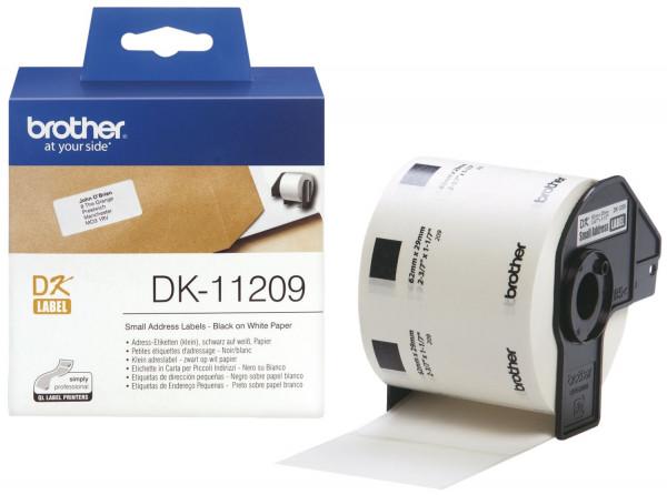 Brother® DK-Einzeletiketten Papier Adress Etiketten, 29x62 mm, 800 Stück