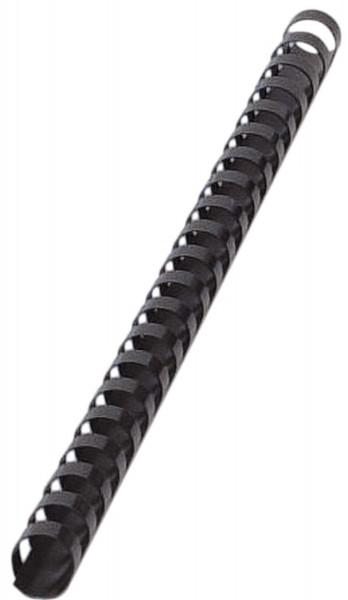 Plastik-Binderücken, 14 mm, für 105 Blatt, schwarz, 100 Stück