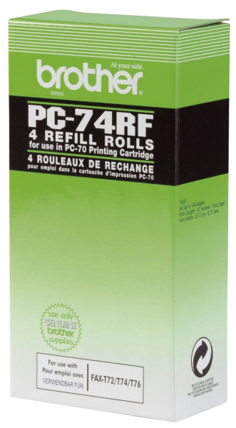 Brother® Thermotransfer-Rollen schwarz, 144 Seiten, PC74RF