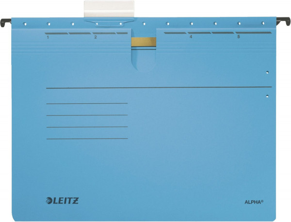 Leitz 1984 blau Hängehefter ALPHA® - kfm. Heftung, Colorspankarton, 5 Stück