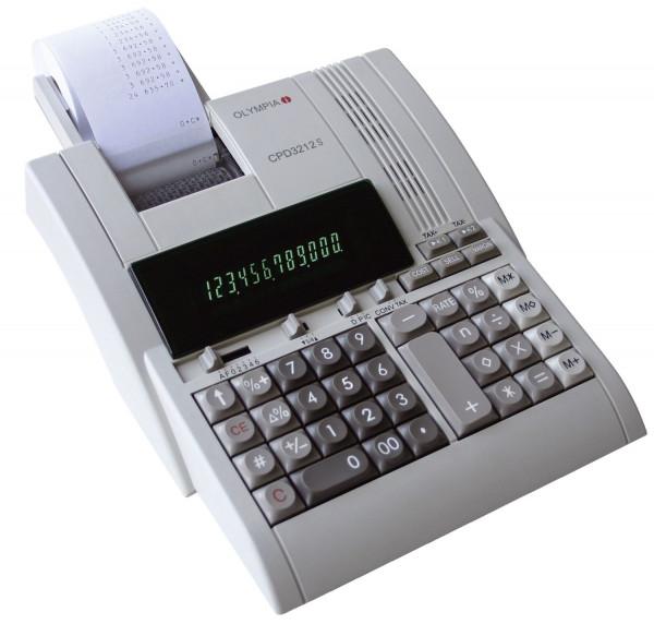 Olympia Tischrechner CPD 3212 S, druckend, 12 stellig, 214x70x254mm, lichtgrau