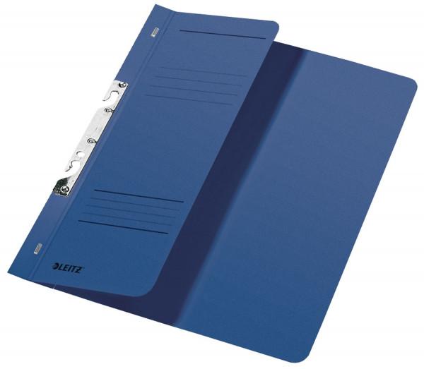 Leitz 3744 Schlitzhefter, blau halber Vorderdeckel, A4, kfm. Heftung, Manilakarton 250 g/qm