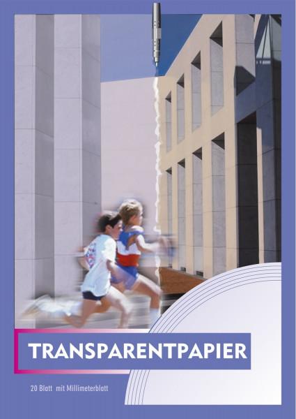 Neutral Transparentpapier A4 70g Block mit 20 Blatt