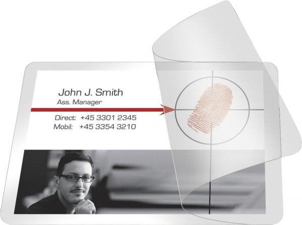 Q-Connect Kaltlaminierhülle, Visitenkarten, 200/100 mym, 66 x 100mm, 10 Stück