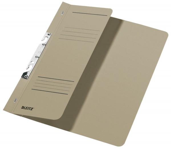 Leitz 3744 Schlitzhefter, grau halber Vorderdeckel, A4, kfm. Heftung, Manilakarton 250 g/qm