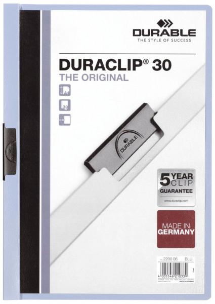 Klemm-Mappe DURACLIP® 30, DIN A4, blau