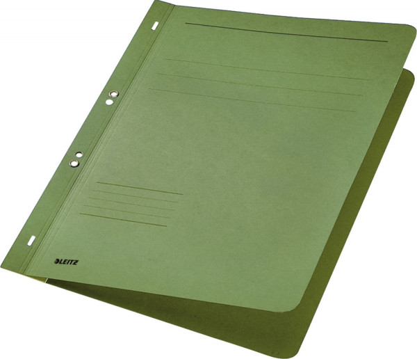 Leitz 3742 Ösenhefter, grün, ganzer Vorderdeckel, A4, kfm. oder Amtsheftung, Manilakarton