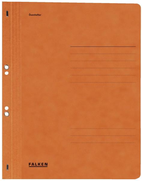 Falken Ösenhefter A4 ganzer Vorderdeckel, orange, Manilakarton, 250 g/qm