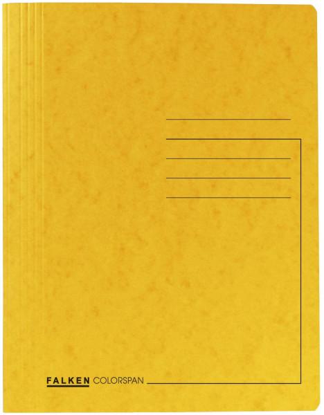 Spiralhefter Colorspankarton - für DIN A4, gelb