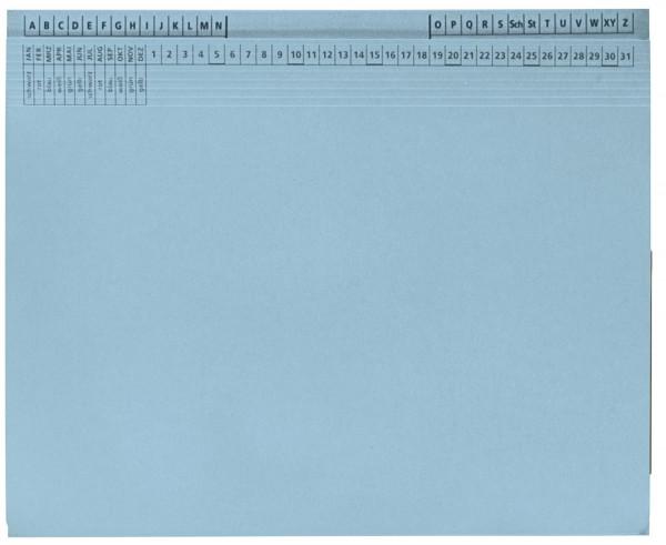 Kanzleihefter B ungefalzt - Rechtsheftung/Linksheftung, 1 Tasche, 1 Abheftvorrichtung, hellblau