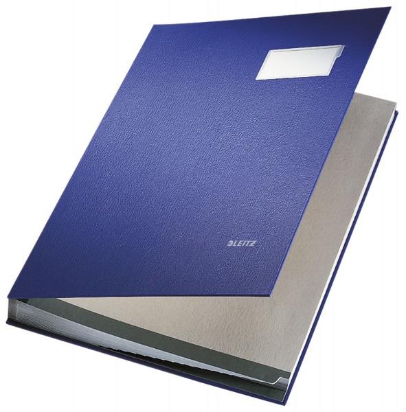Leitz 5700 Unterschriftenmappe, blau, 20 Fächer, Überzug PP,