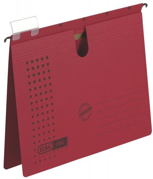 Hängehefter chic ULTIMATE® - Karton (RC), 240 g/qm, A4, rot, 5 Stück