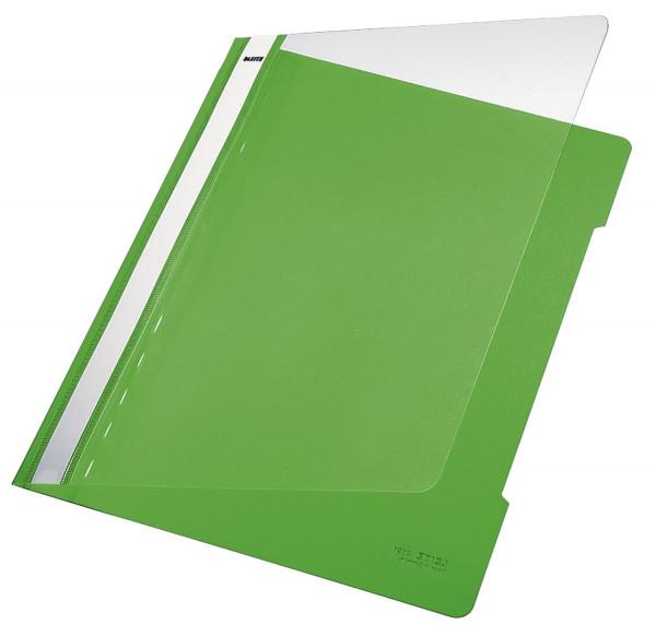Leitz 4191 PVC Hefter hellgrün Standard, A4, langes Beschriftungsfeld